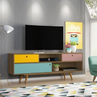 RACK RETRO COLOR – OLIVAR MOVEIS